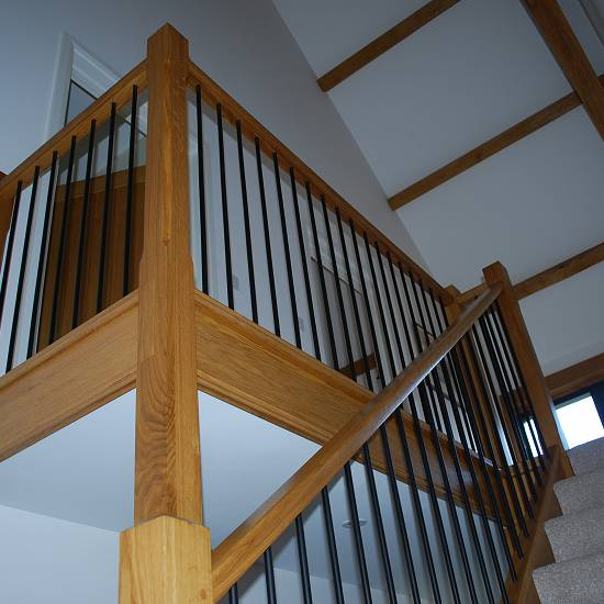 Oak Staircase in new build